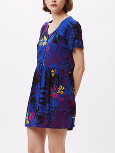 OBEY TEMPT DRESS PURPLE MULTI