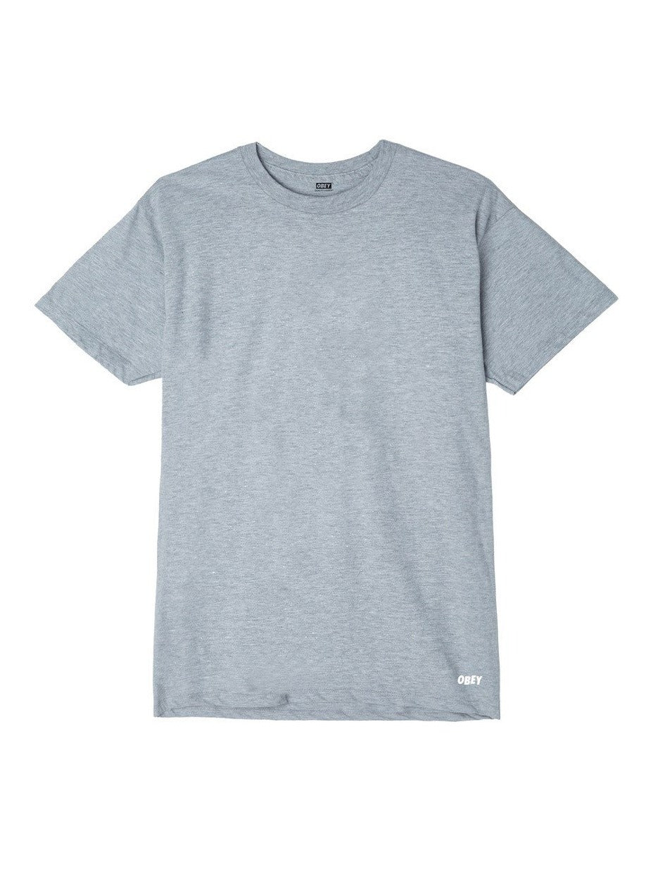 OBEY JUMBLED II PREMIUM TEE HEATHER GREY