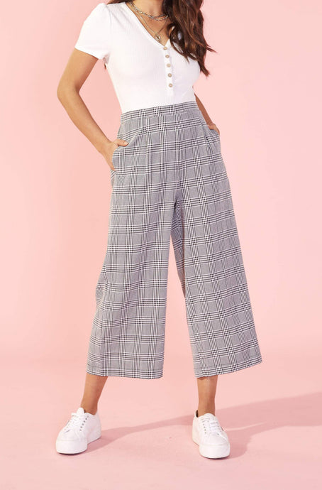 MINKPINK CHECK CULOTTE