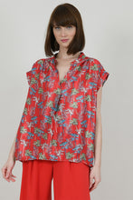 Load image into Gallery viewer, MOLLY BRACKEN PALM TREES SLEEVELESS TOP RED