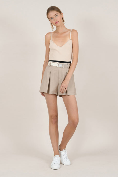 MOLLY BRACKEN SHAWTY HIGH WAIST PLEATED SHORTS