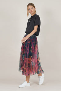 MOLLY BRACKEN MIDI TULLE SKIRT