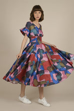 Load image into Gallery viewer, MOLLY BRACKEN CUBIST PRINTED LONG DRESS