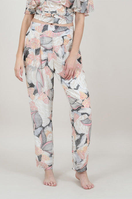 MOLLY BRACKEN LOTUS PRINTED TROUSER