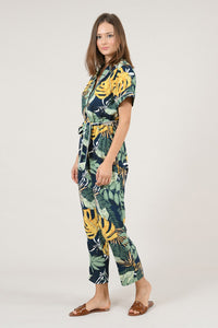 MOLLY BRACKEN JUNGLE FEVER TROPICAL PRINT JUMPSUIT