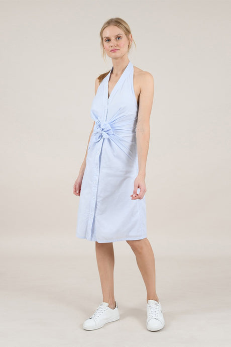 MOLLY BRACKEN CAPECOD HALTER NECK SHIRT DRESS