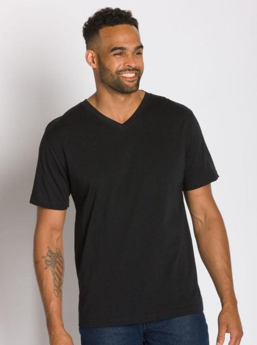 ABLY JAMISON V-NECK TEE BLACK