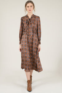 MOLLY BRACKEN NINE TO FIVE PRINT DRESS