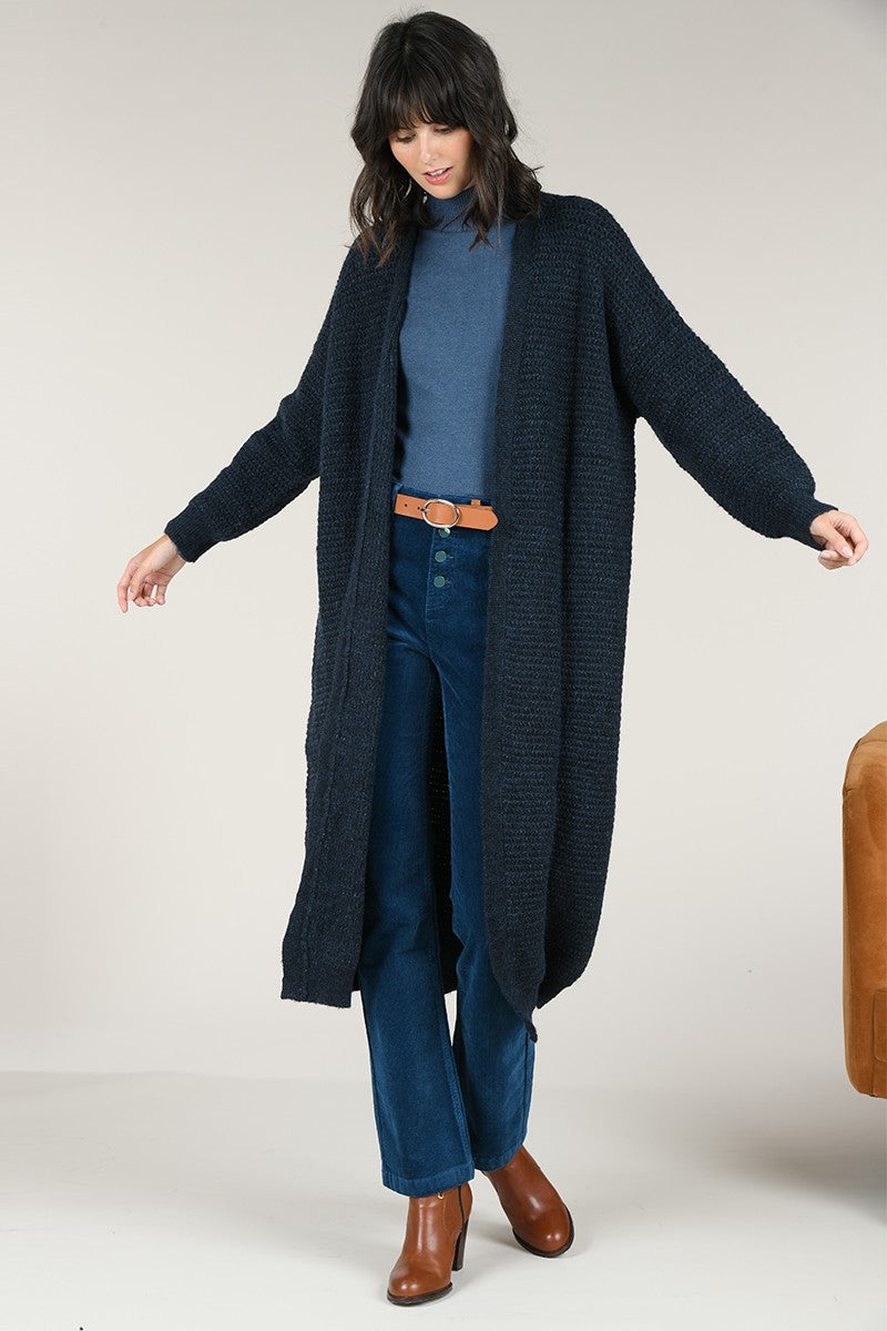 MOLLY BRACKEN LONG LINE MAXI CARDIGAN