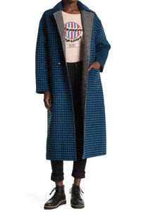 SCOTCH & SODA REVERSIBLE WOOL LONG LINE COAT