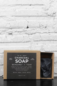Manready Mercantile Bergamot + Teak Charcoal Soap