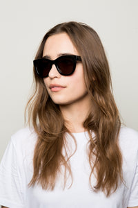 WONDERLAND COLONY GLOSS BACK GREY SUNGLASSES
