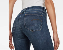 Load image into Gallery viewer, Dark Aged 3301 D-Mid Waist Super Skinny Jeans