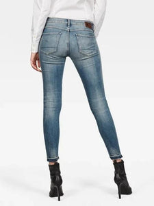 Antic Faded Ripped Marine 3301 MID SKINNY ANKLE JEANS