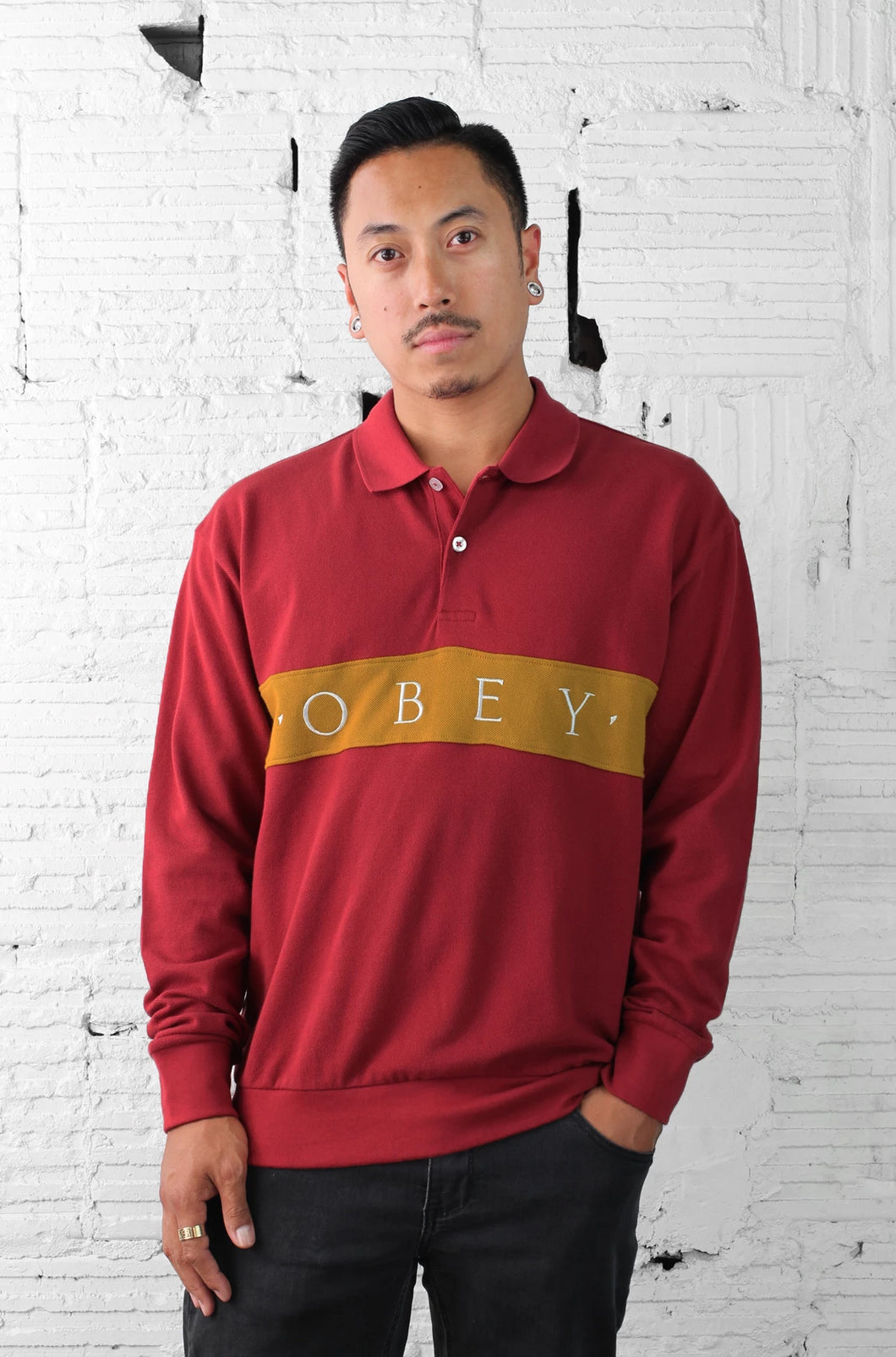 OBEY Bishops Longsleeve Polo
