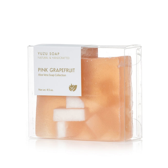 YUZU SOAP ALOE VERA SOAP BARS PINK GRAPEFRUIT