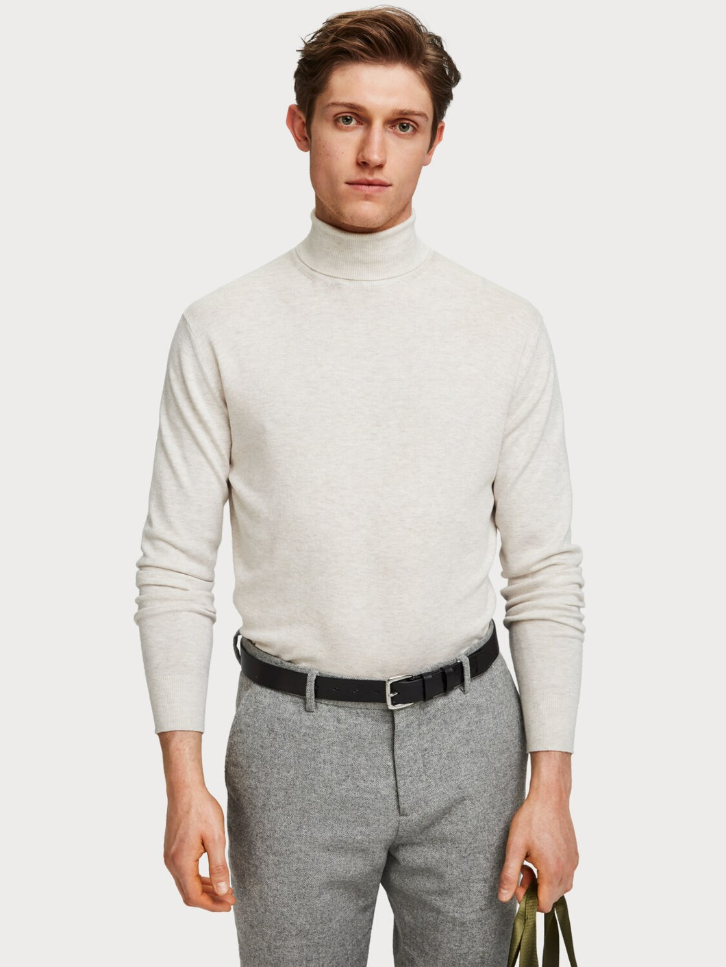 SCOTCH & SODA CLASSIC TURTLENECK ECRUMELANGE