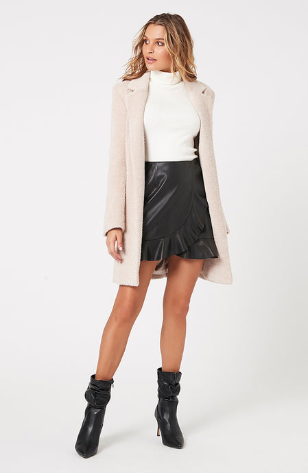 MINKPINK ELLINGTON DUSTER COAT BEIGE