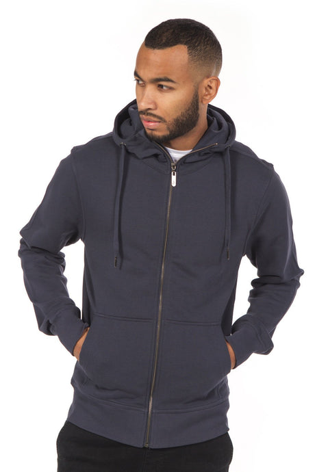 ABLY ROBERT ZIP UP HOODIE NAVY