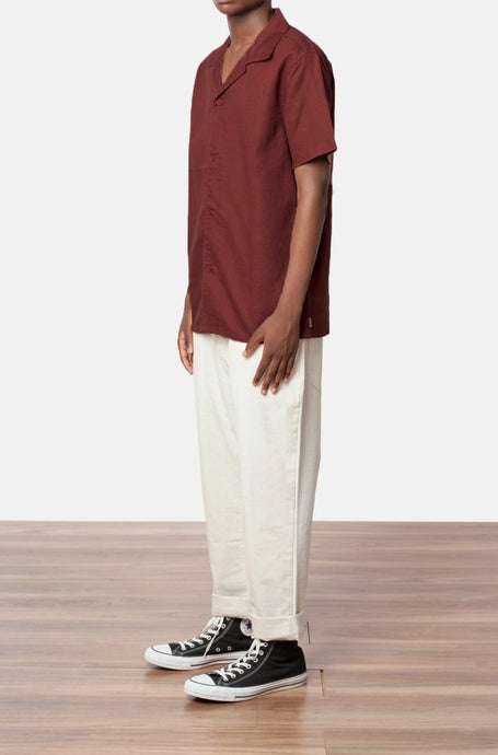 RHYTHM LINEN CUBAN SHORT SLEEVE BUTTON UP