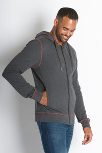 ABLY PIONEER HOODED JACKET CHARCOAL