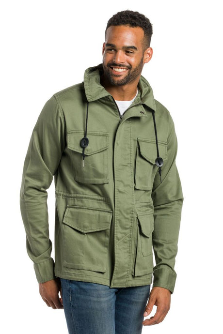 ABLY BEAR HOODED FIELD JACKET