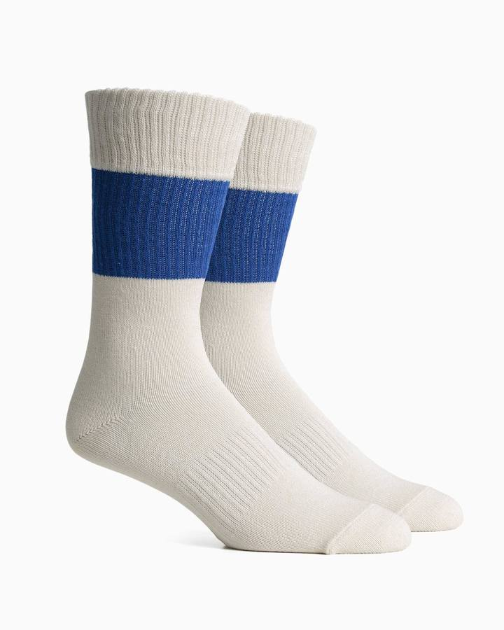 RICHER POORER RIGBY SOCK BLUE WHITE