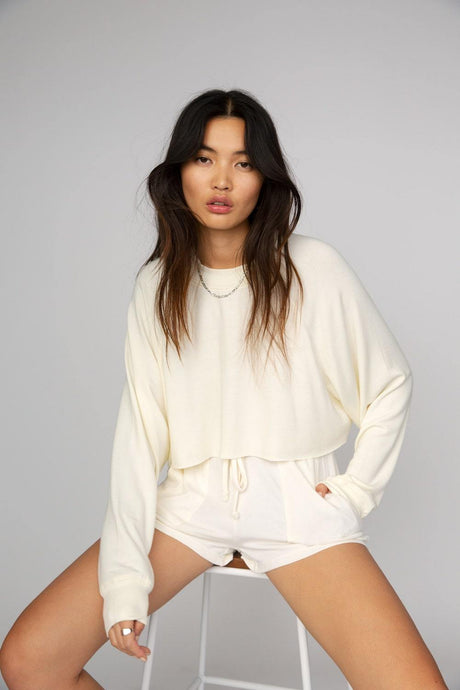 NIA THE SOFTEST CROP PULLOVER