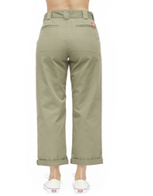 Load image into Gallery viewer, DICKIES HIGH RISE CROPPED WORK PANTS OLIVE