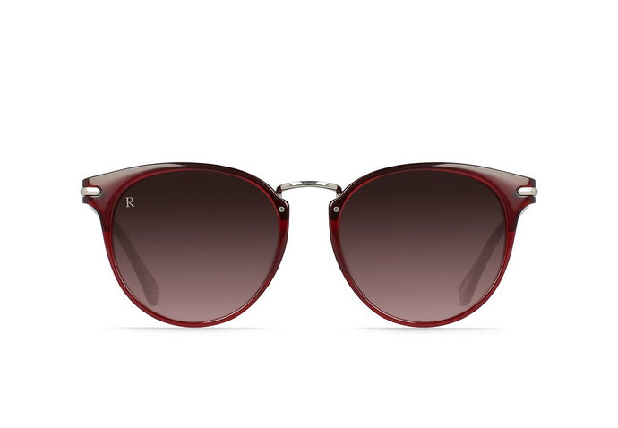 RAEN NORIE-A OXBLOOD CRYSTAL SUNGLASSES