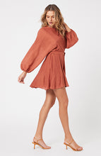 Load image into Gallery viewer, MINKPINK DOLMAN MINI DRESS RUST