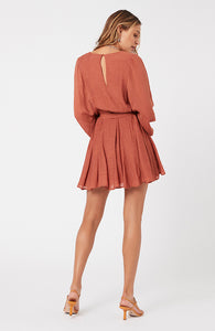 MINKPINK DOLMAN MINI DRESS RUST