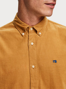 CORDUROY LONG SLEEVE BUTTON UP
