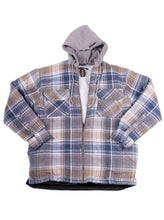Load image into Gallery viewer, HOODED SHERPA FLANNEL