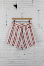 Load image into Gallery viewer, Stone Row stripe paperbag shorts