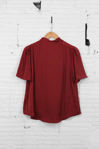 Reset by Jane V-Neck Tie Blouse