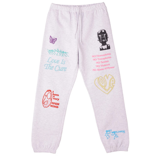 OBEY TOXIC MIND = TOXIC PLANET ALL EYESZ SWEATPANT ASH GREY