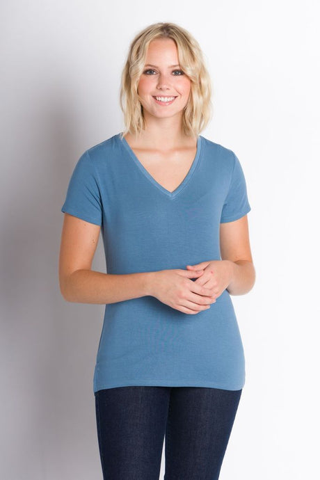 ABLY NESSA SHORT SLEEVE TOP BLUESHADOW