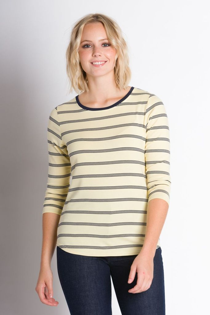 ABLY JAX THREE-QUARTER SLEEVE TOP