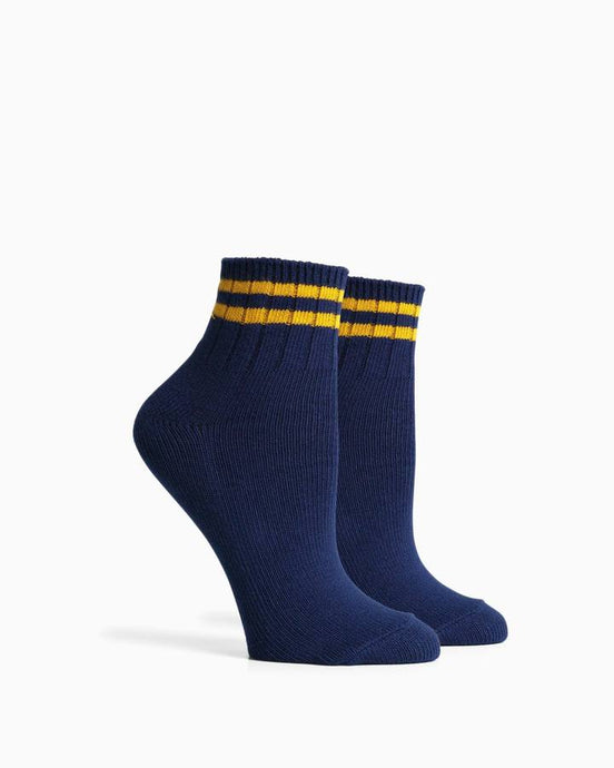 RICHER POORER ARIA SOCKS NAVY YELLOW