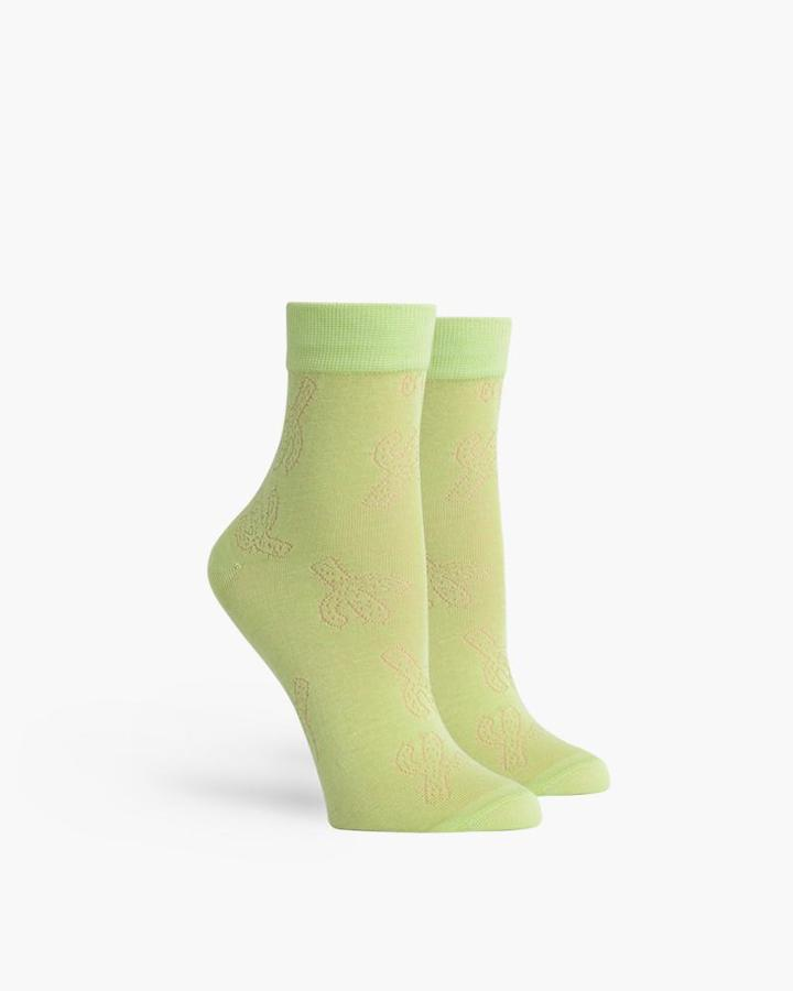 RICHER POORER CACTUS SOCKS MINT