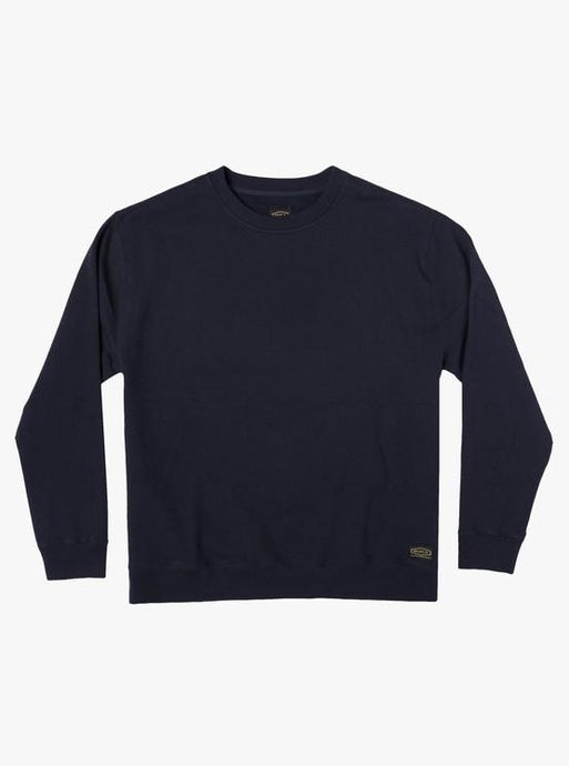 RVCA DAY SHIFT FLEECE CREW NAVY