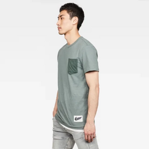 G STAR CONTRAST POCKET TEE