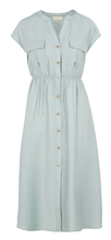Load image into Gallery viewer, THE KORNER BUTTONED MIDI DRESS