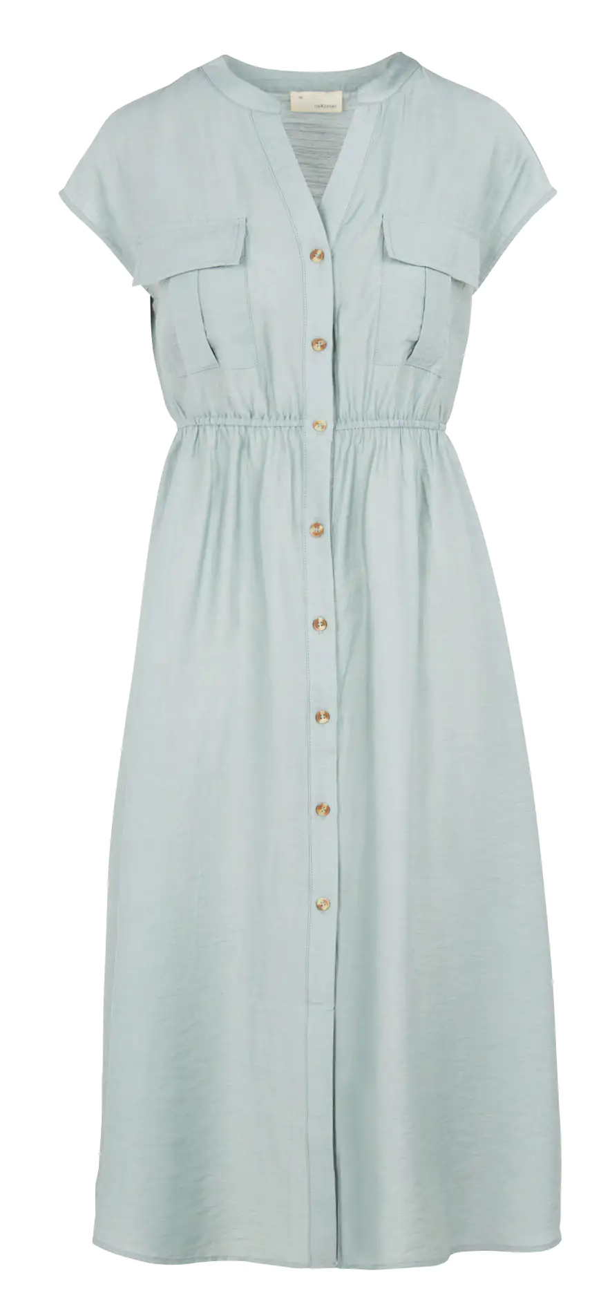 THE KORNER BUTTONED MIDI DRESS