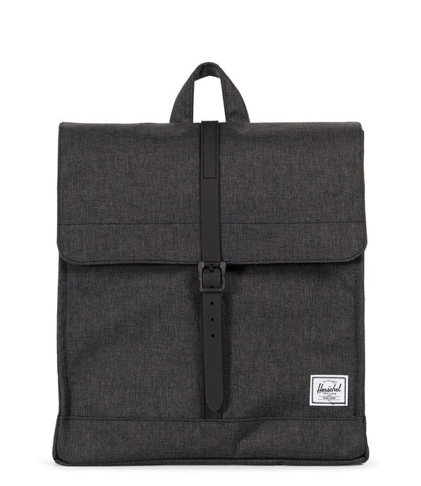 HERSCHEL CITY BACKPACK MID BLACK CROSSHATCH