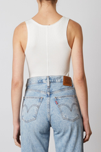 Load image into Gallery viewer, NIA SCOOP NECK RACER TANK WHITE