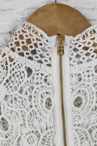 Scotch & Soda Lace neck tee