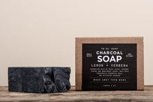Load image into Gallery viewer, MANREADY CHARCOAL SOAP LEMON VERBANA