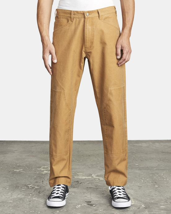 RVCA MENS CHAINMAIL RELAXED FIT PANT CAMEL